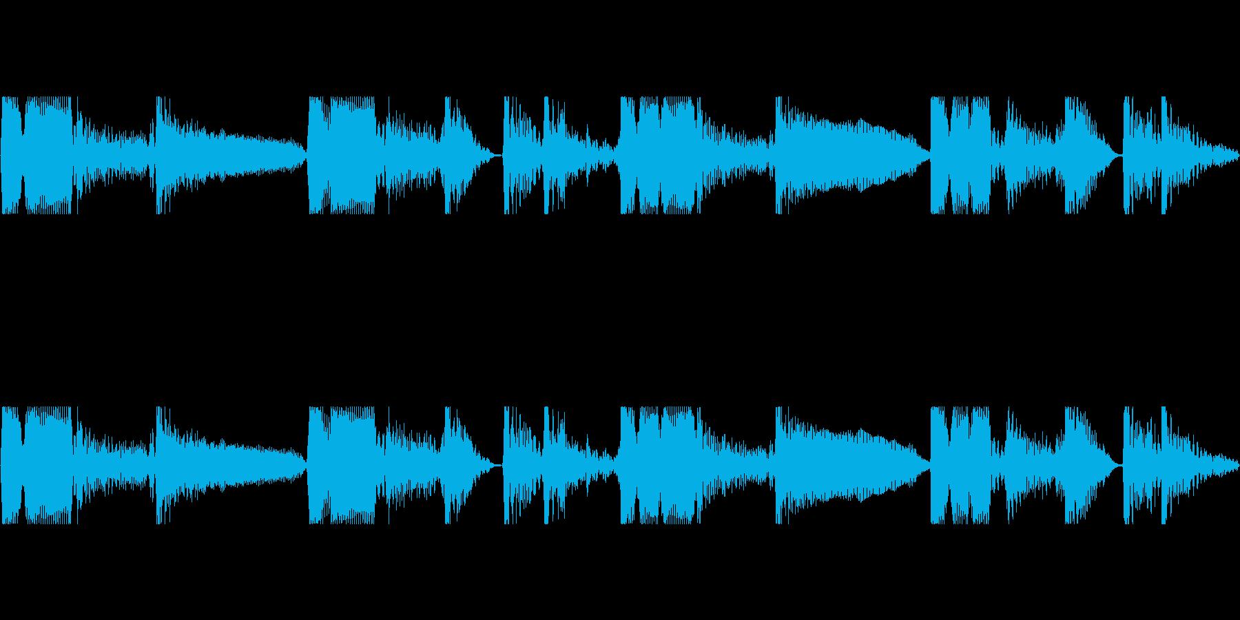 ダブルベース ループDmの再生済みの波形