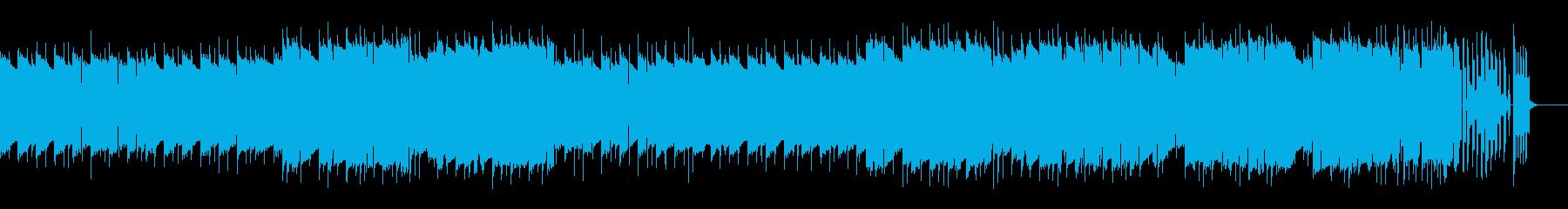 レトロゲーム風BGM(ダンジョン、緊張)の再生済みの波形