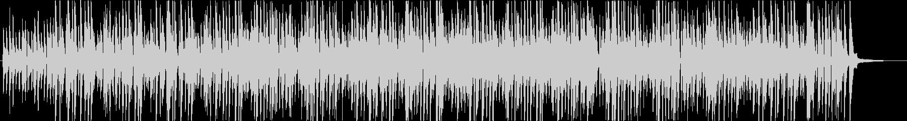 明るくコミカルなイメージのジャズBGMの未再生の波形