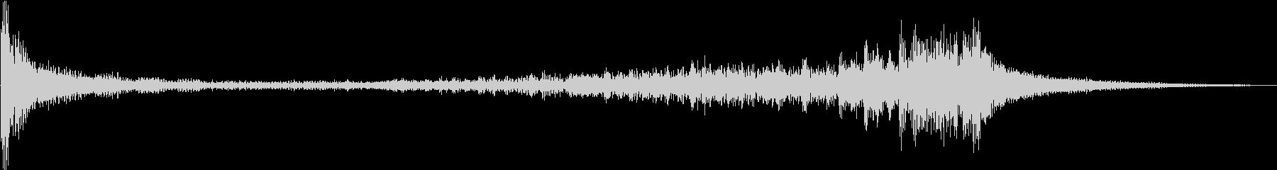 ティンパニ:ロールB、クレッシェンドの未再生の波形
