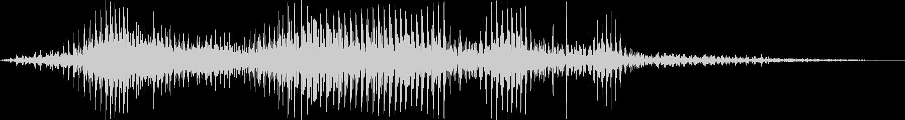 ダートゴーカートの運転の未再生の波形