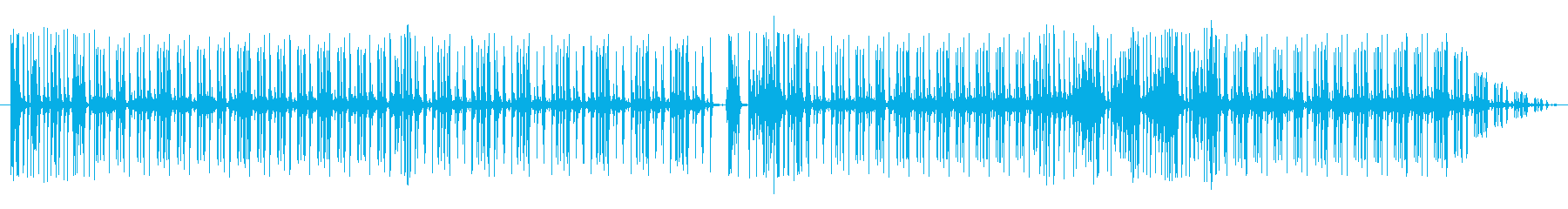 グルーブ16ビートpurdie風ドラム3の再生済みの波形