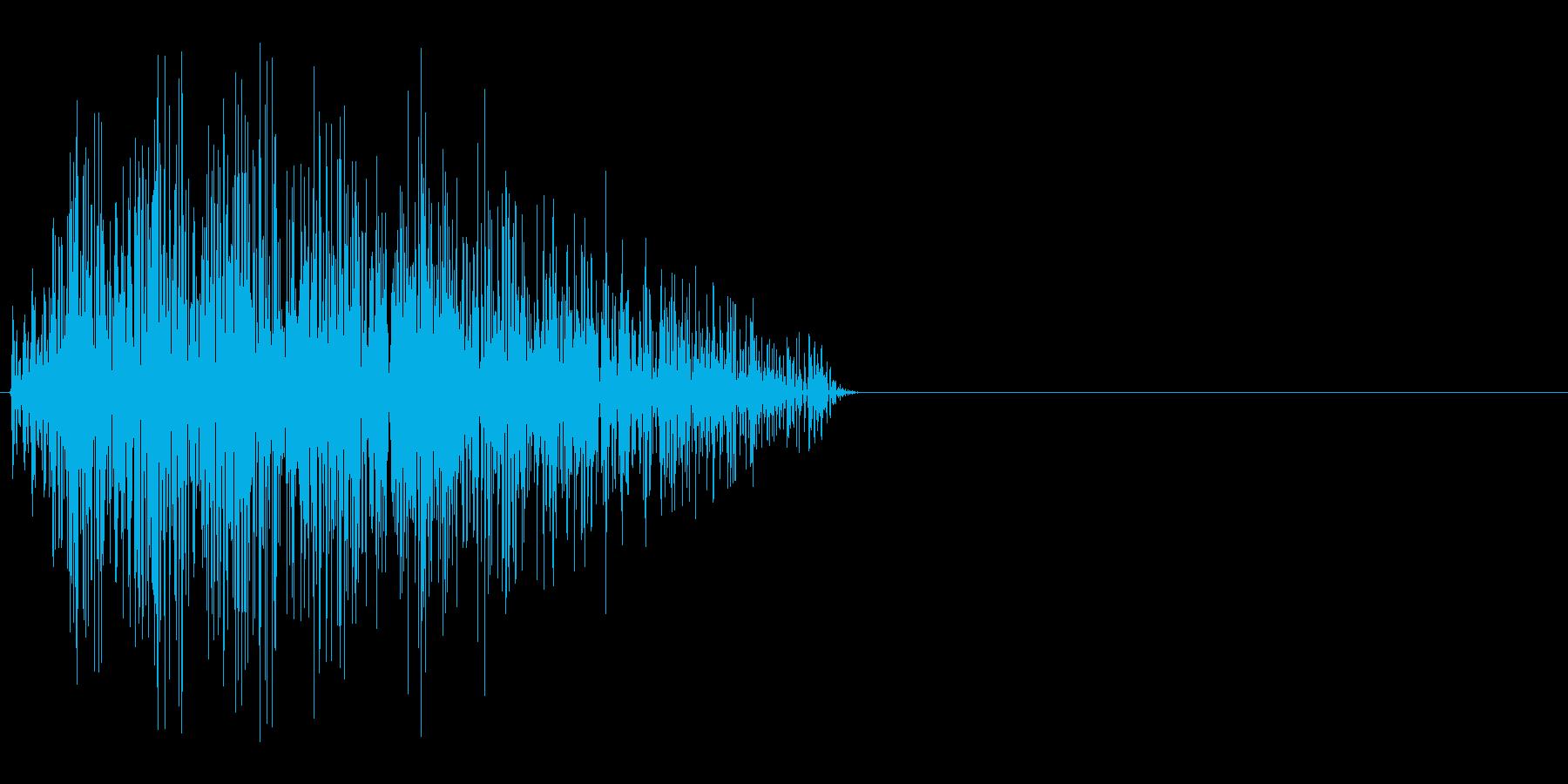 ボタン・カーソル・操作音 「チッ」の再生済みの波形