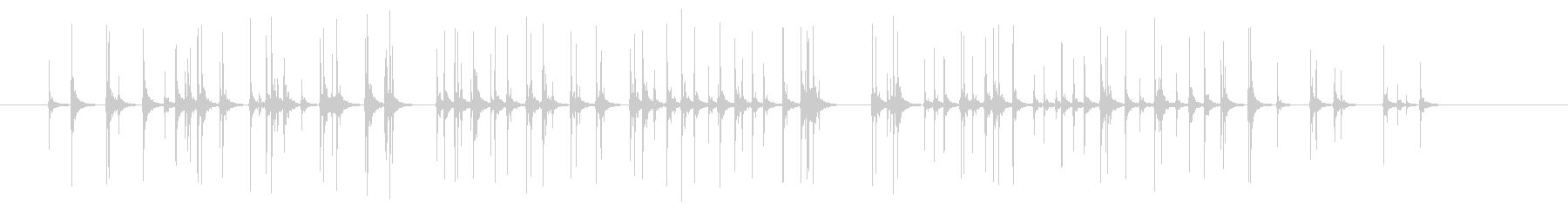 【録音】拍手5秒の未再生の波形