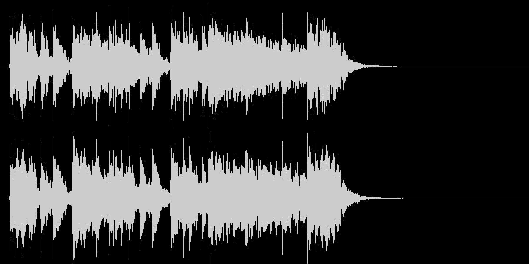 イベント等に使えるパワフルギタージングルの未再生の波形
