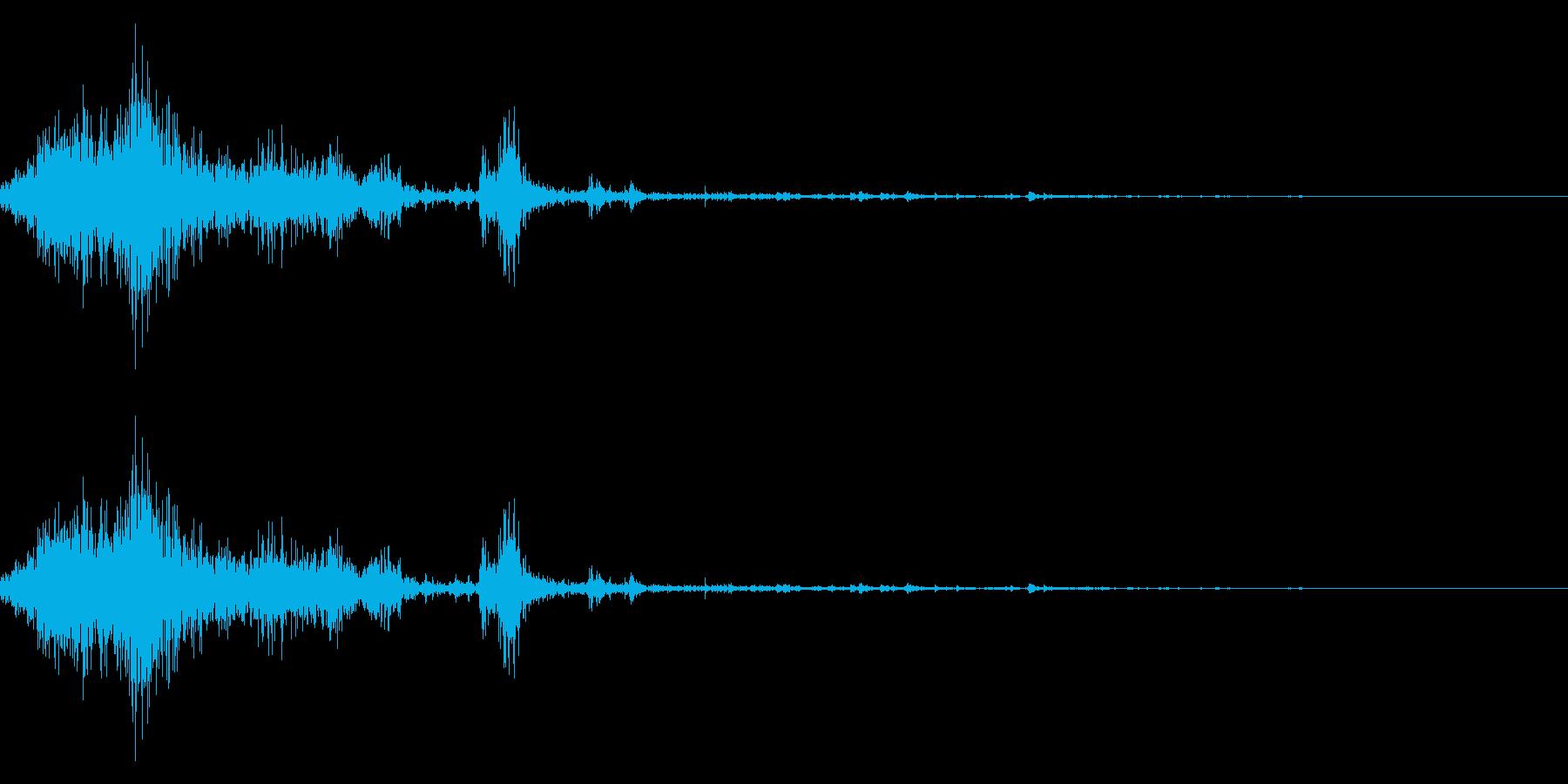 雪かきの効果音 07の再生済みの波形