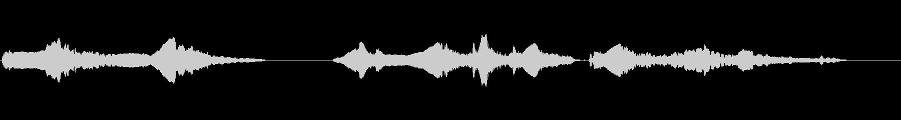 尺八の独奏 生演奏 和風のシーンなど 2の未再生の波形