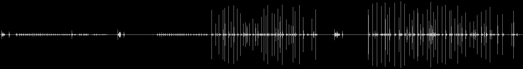 古いマニュアルタイプライター:ラン...の未再生の波形