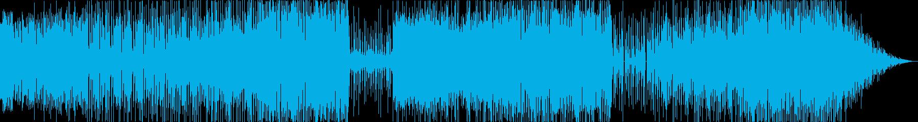 メリーゴーランドのように楽しい電子音楽の再生済みの波形