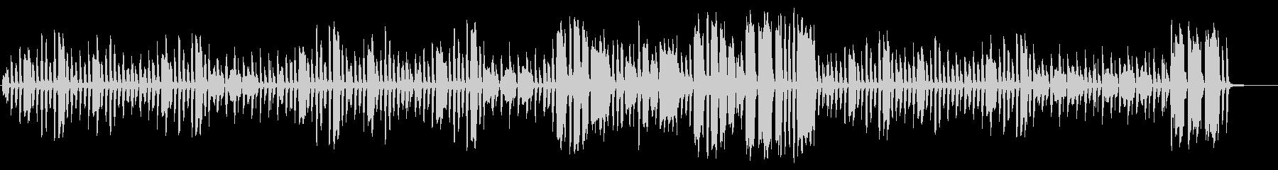 ほのぼのとしたリコーダーとピアノの未再生の波形