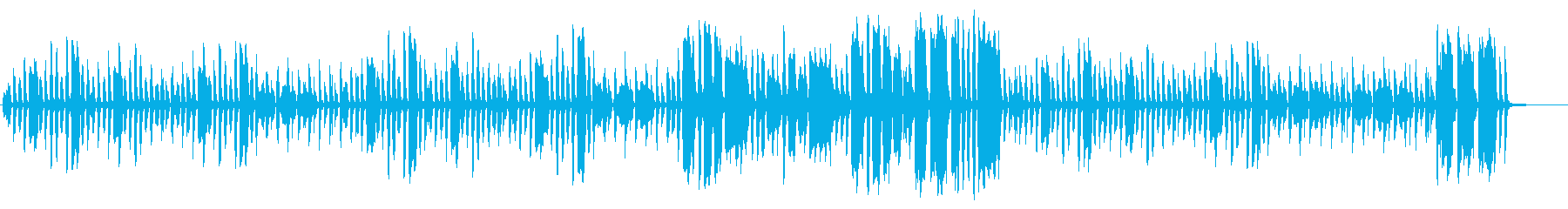ほのぼのとしたリコーダーとピアノの再生済みの波形