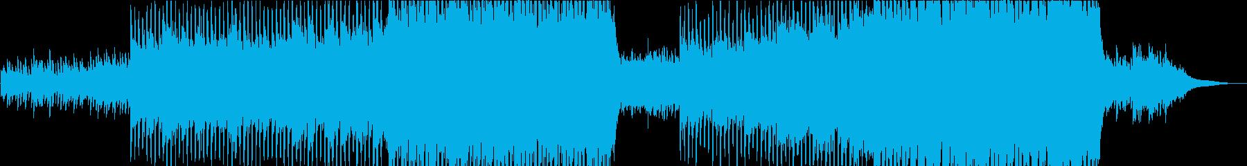 ピアノとストリングスの高揚感のある曲の再生済みの波形