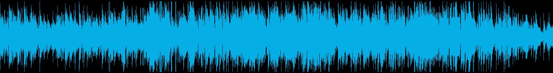 ジャズ系ボサノバ、休日カフェ ※ループ版の再生済みの波形