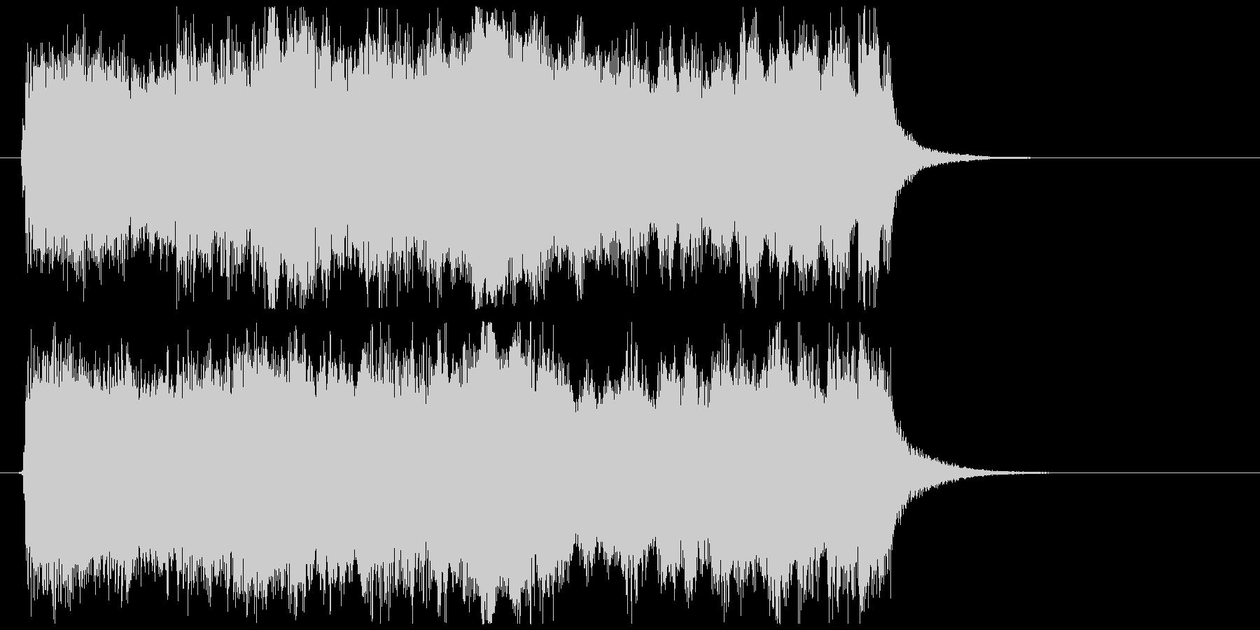 エンディングでのファンファーレの未再生の波形
