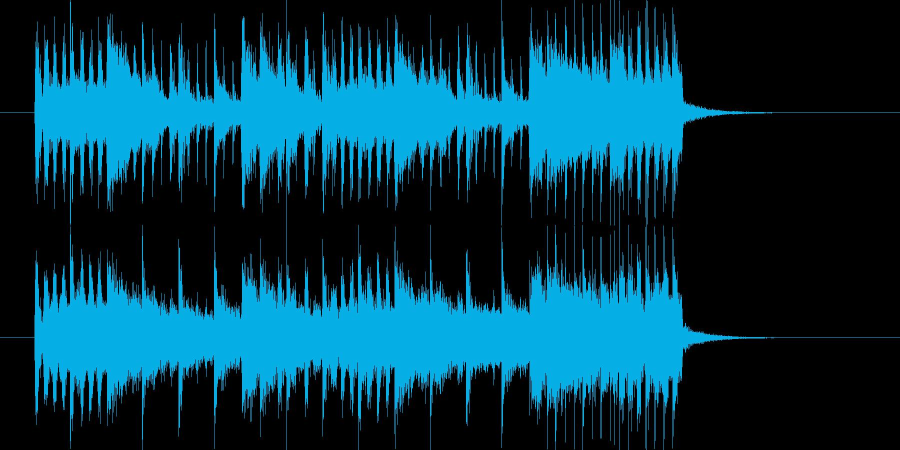 ワイルドとスピードのパンクロックジングルの再生済みの波形