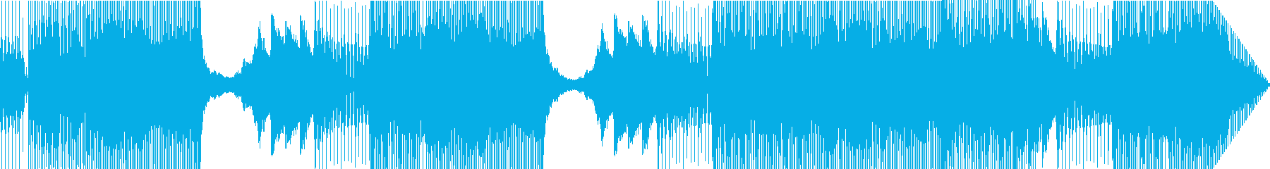 未来的で技術的な電子サウンドの再生済みの波形