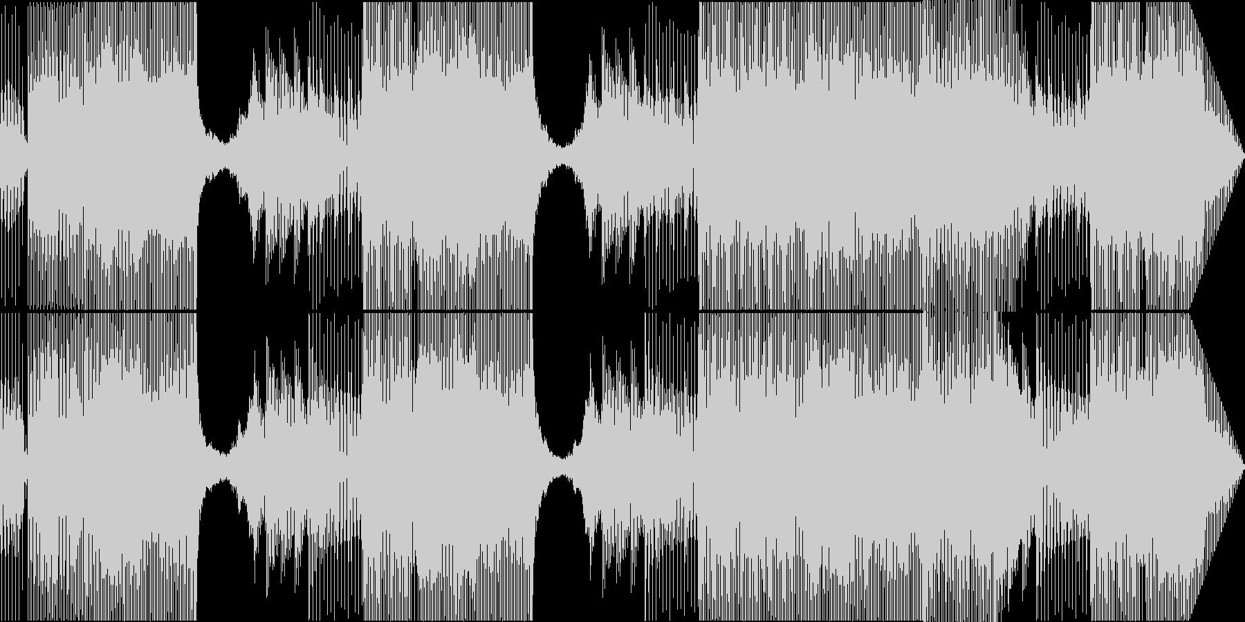 未来的で技術的な電子サウンドの未再生の波形