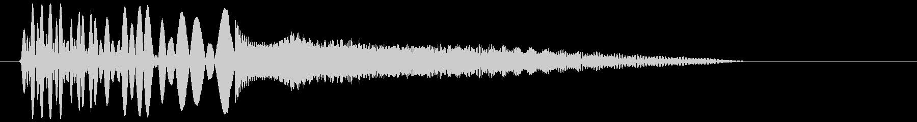 トゥキューン(小ビームが発射された音)の未再生の波形