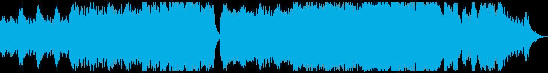圧倒的なクライマックスを感じる曲の再生済みの波形