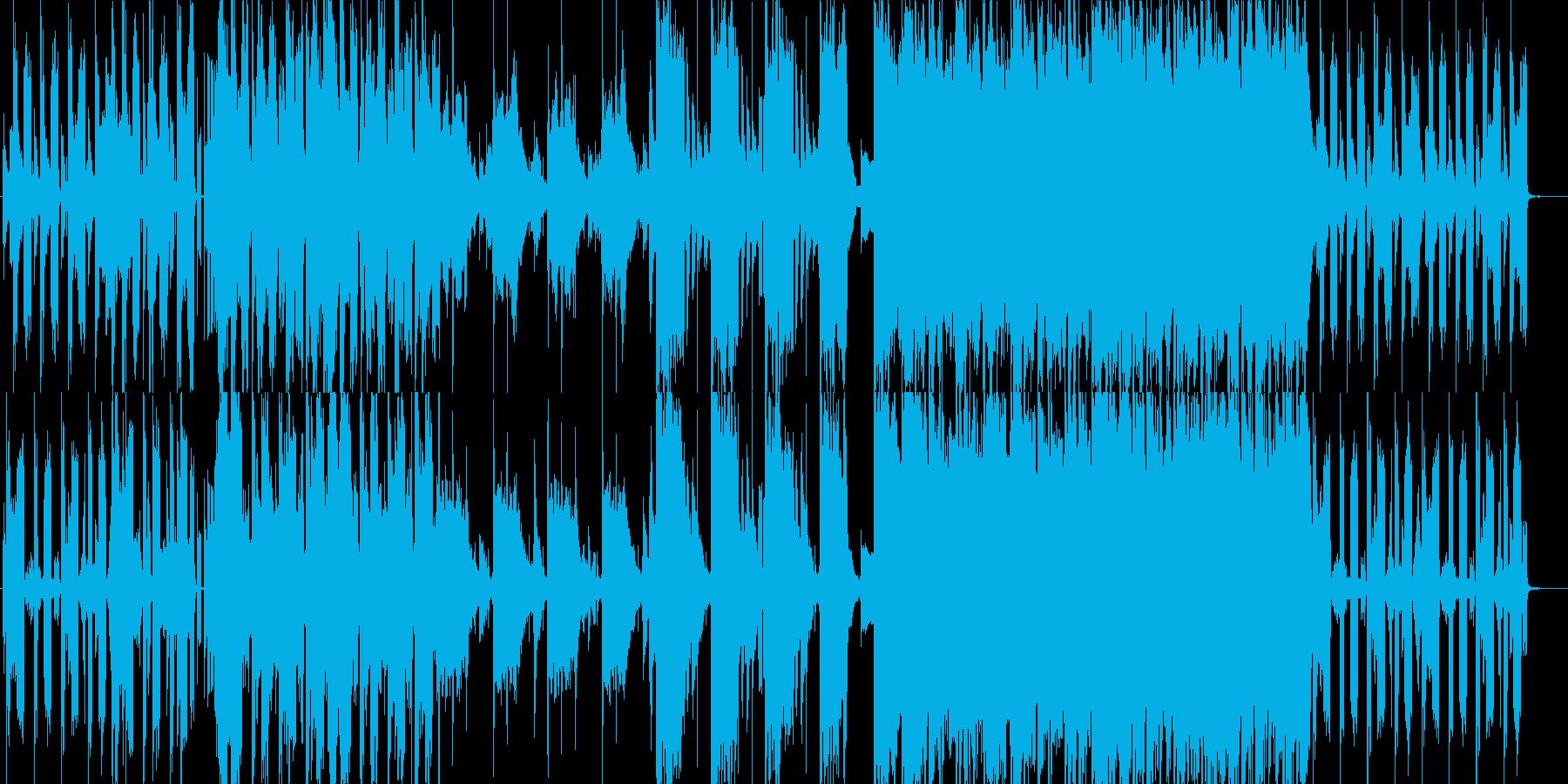 おしゃれな映像作品に合いそうな楽曲の再生済みの波形
