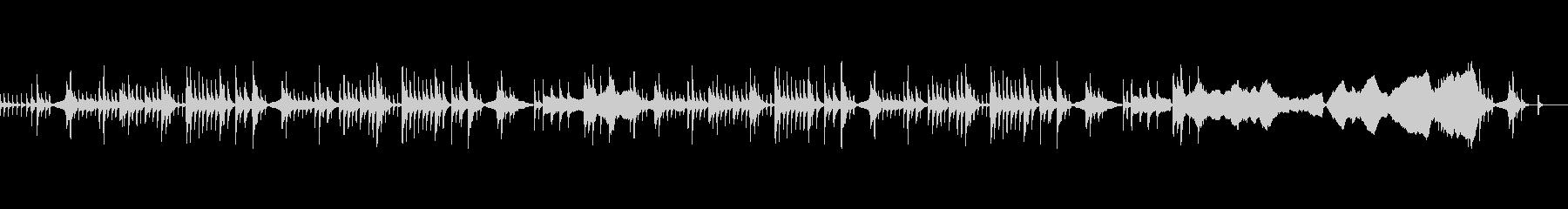 ギターと弦のピチカートのバラードの未再生の波形