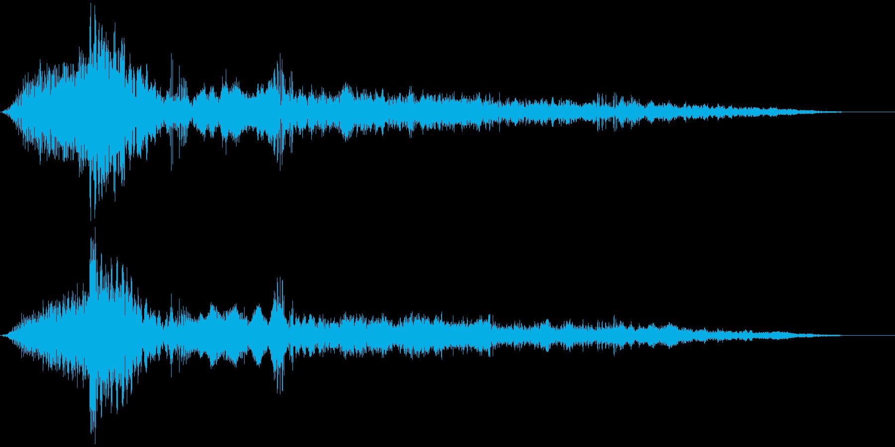 インパクト大_迫力の登場シーンの再生済みの波形