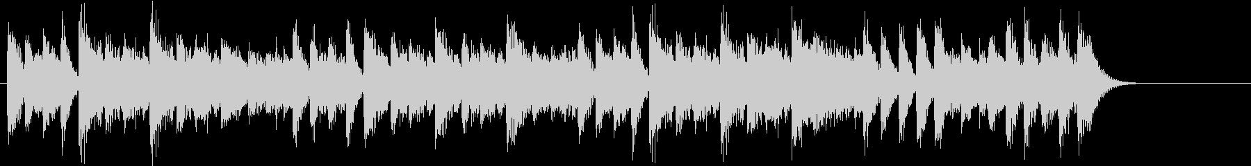 16分音符のリズムが楽しいピアノジングルの未再生の波形