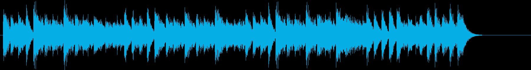 16分音符のリズムが楽しいピアノジングルの再生済みの波形