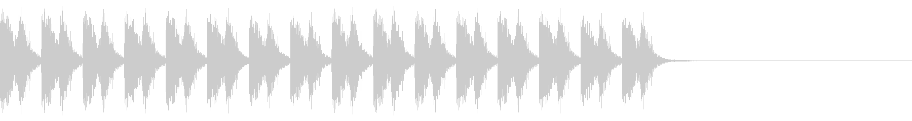 ロボット走るA04の未再生の波形