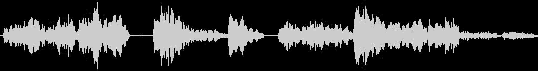 エイリアンorロボットがの発話音の未再生の波形