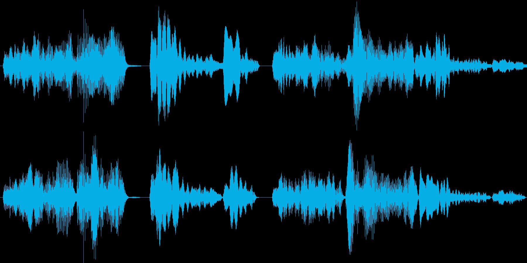 エイリアンorロボットがの発話音の再生済みの波形