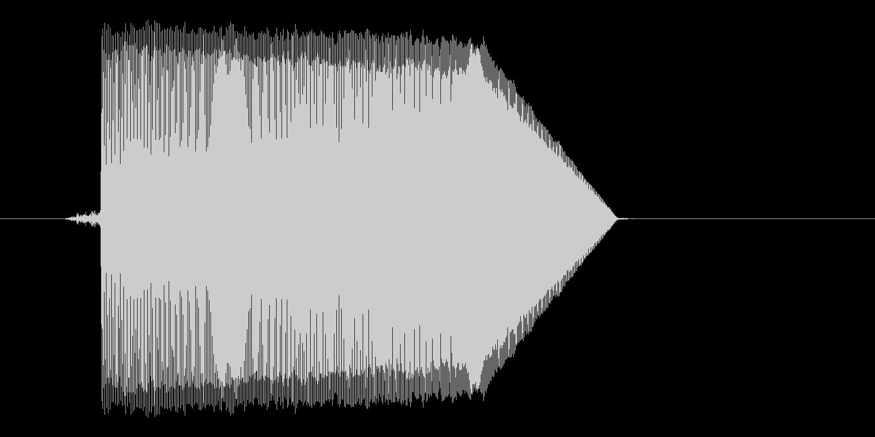 ゲーム(ファミコン風)ジャンプ音_017の未再生の波形