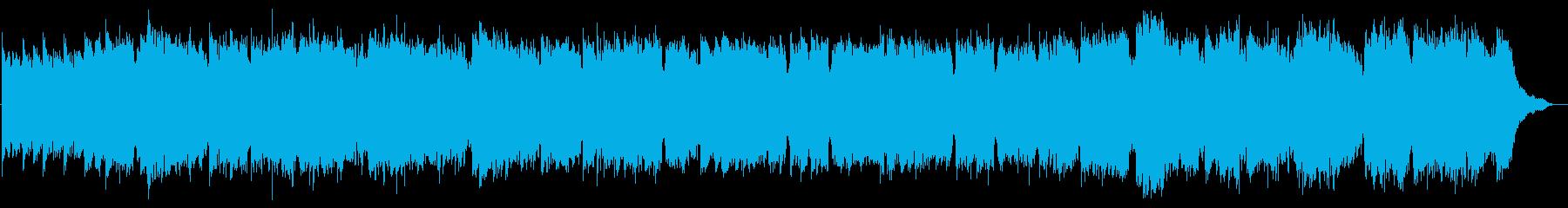 民族調三拍子のフルートオリジナル曲の再生済みの波形