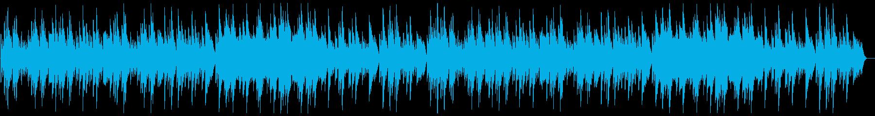 可愛いふんわりした木琴のオルゴールの曲の再生済みの波形