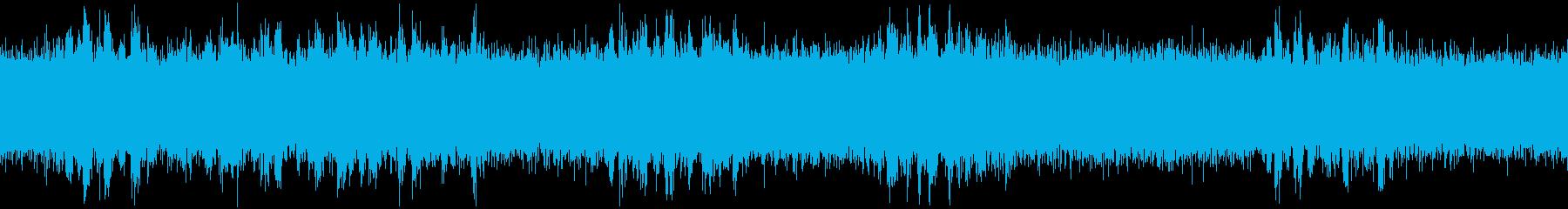 夏の早朝_虫と鳥_ループ素材_環境音の再生済みの波形