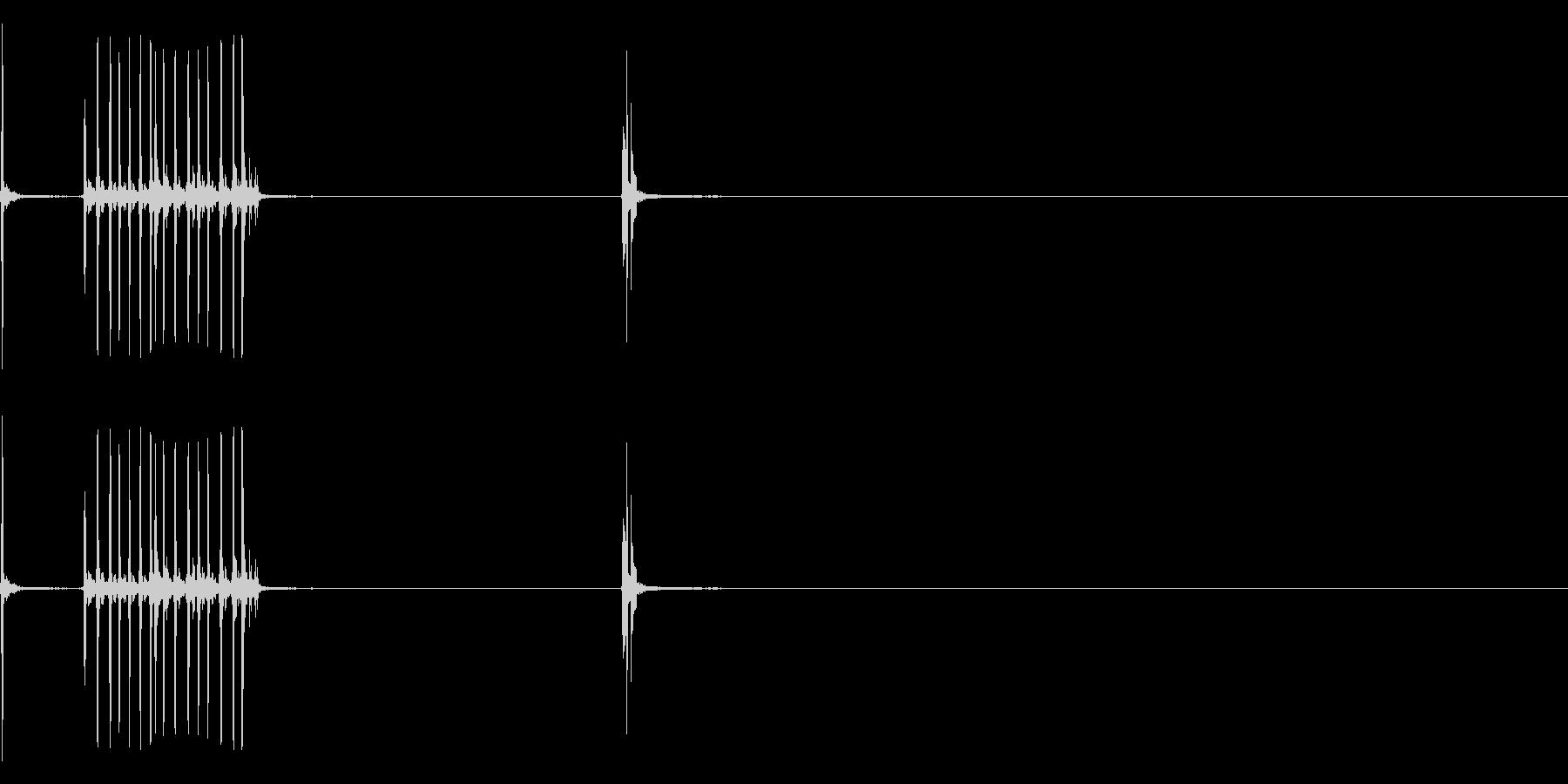 カッターナイフ4の未再生の波形