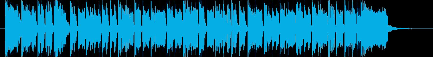 シンセがメロのほのぼのした曲です。の再生済みの波形