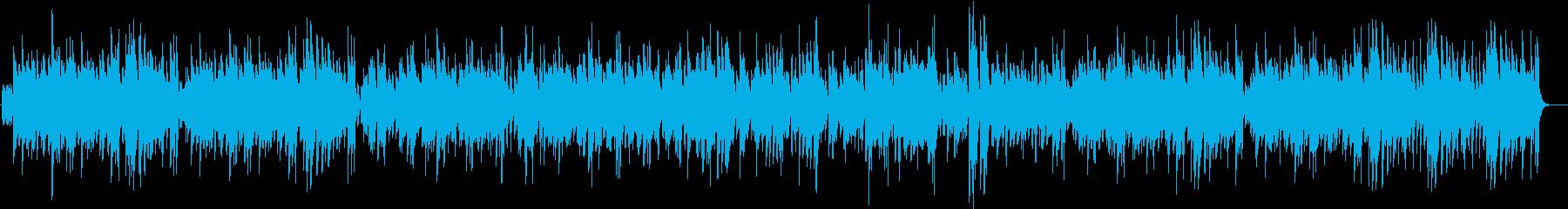テナーサックスのスイングジャズの再生済みの波形