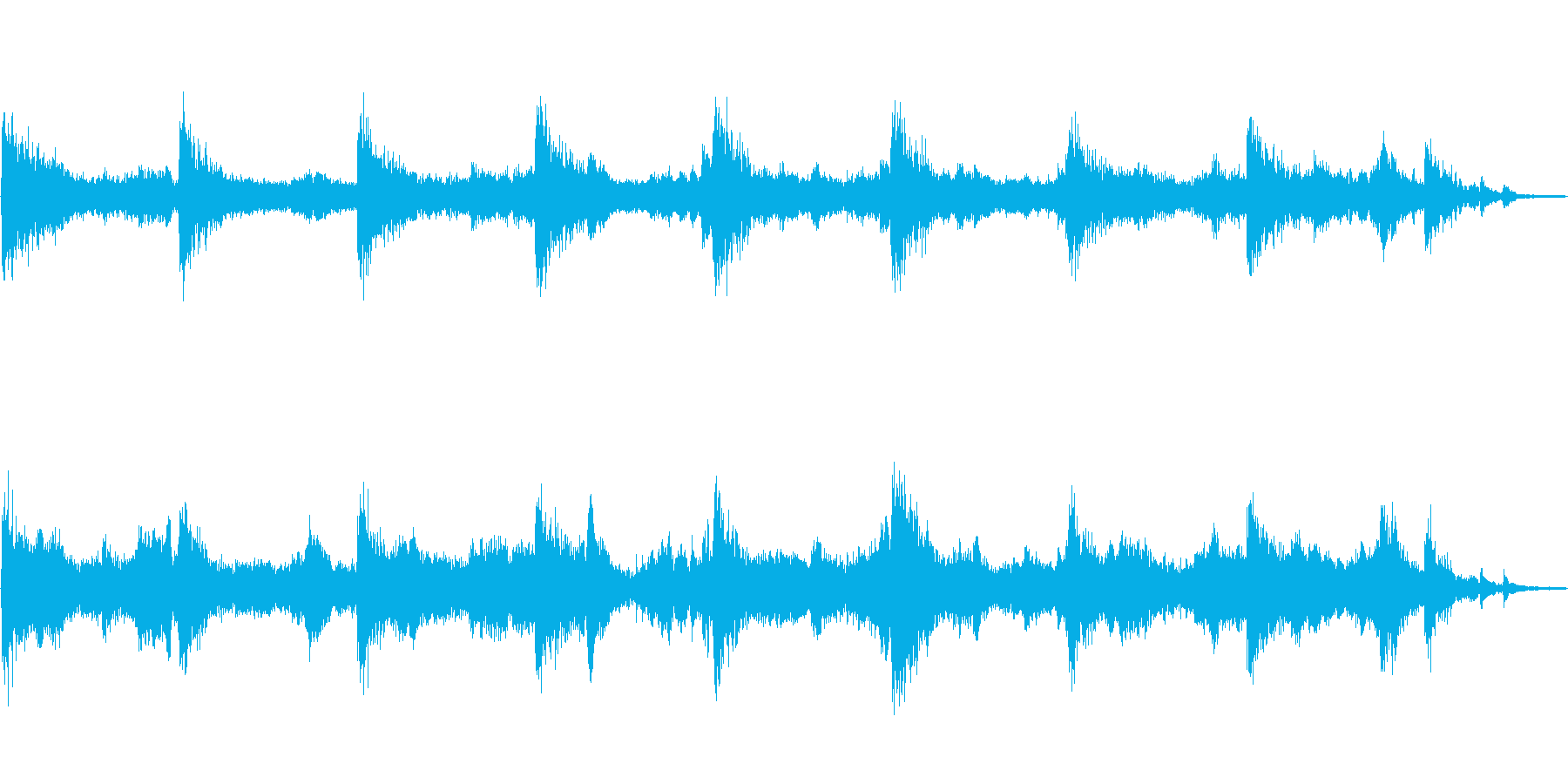 Soundtrack 1の再生済みの波形