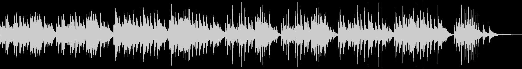春をイメージしたピアノBGMの未再生の波形