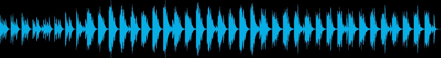 自然音の癒やし効果でママのストレスを解消の再生済みの波形