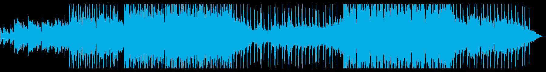 清涼感のあるほんのり和風なストリングス曲の再生済みの波形
