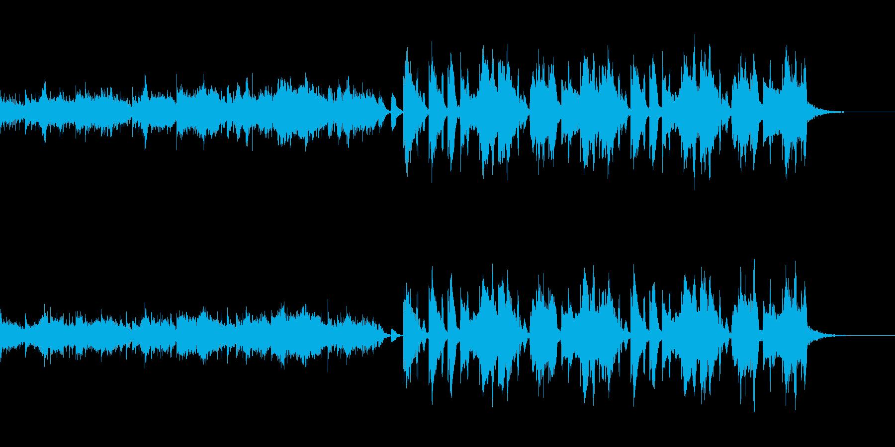 緩くほのぼのとした変則ビートの再生済みの波形