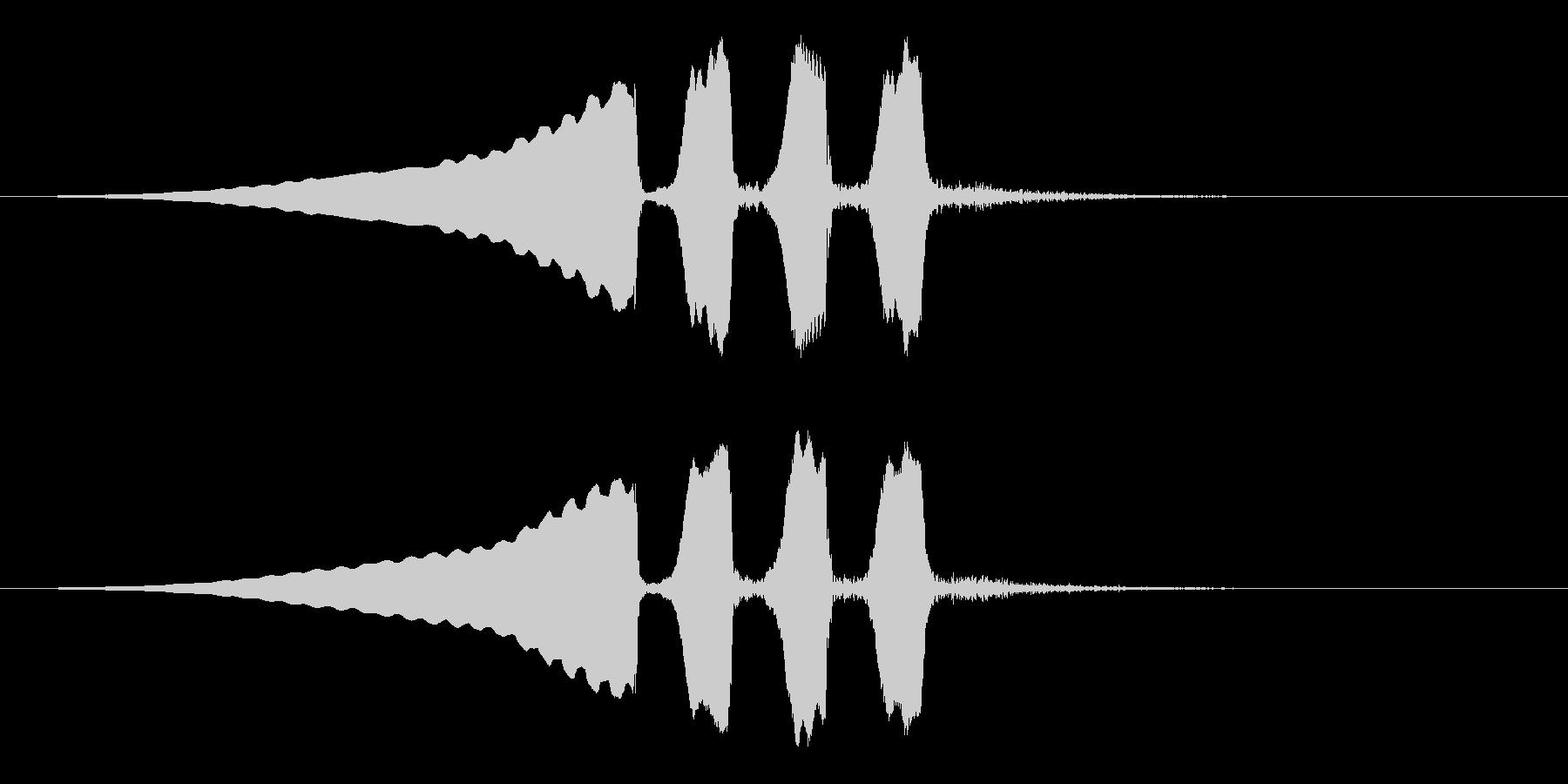 うぐいすの鳴き声 1B ほーほけきょの未再生の波形