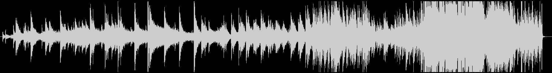 ピアノを主体としたダウナーな音響音楽の未再生の波形