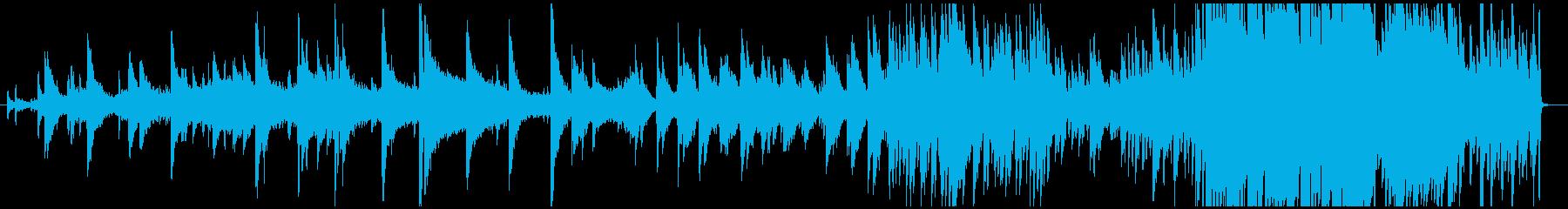 ピアノを主体としたダウナーな音響音楽の再生済みの波形