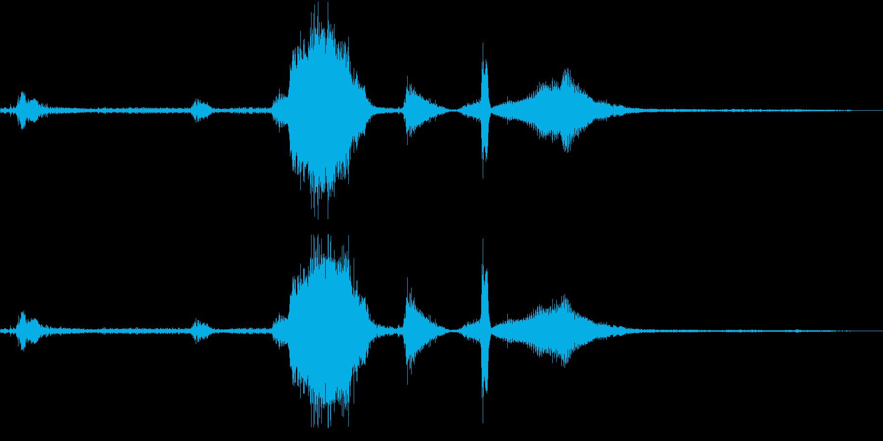 EXT:スタート、アイドル、ピール...の再生済みの波形