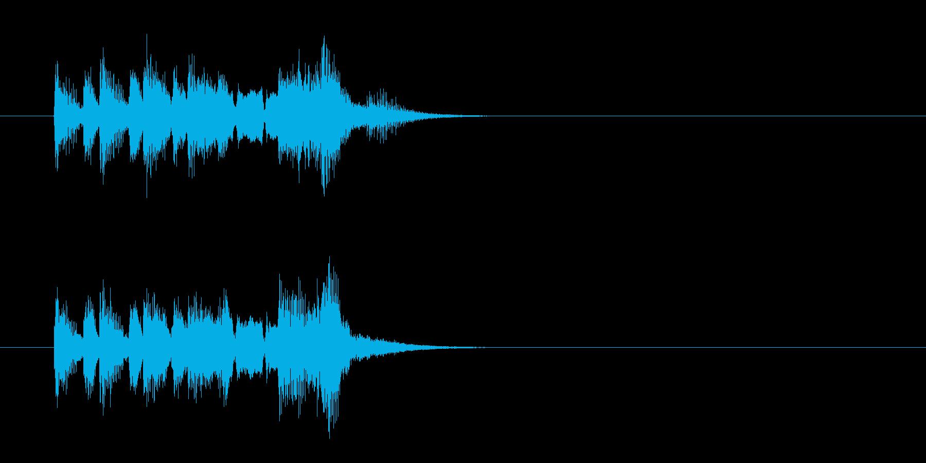 ジングル(ズッコケ風)の再生済みの波形