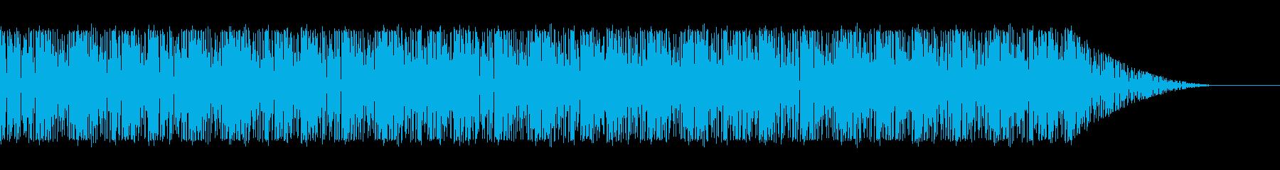 サイバーパンクな雰囲気がかっこいいループの再生済みの波形