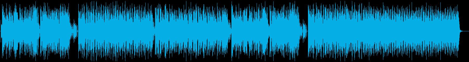 ボス戦ぽい超ハイテンポなジャズ/ループ可の再生済みの波形